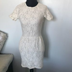 Sexy lace dress with pockets